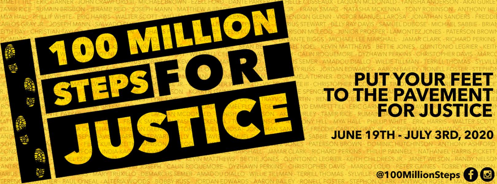 100 Million Steps for Justice
